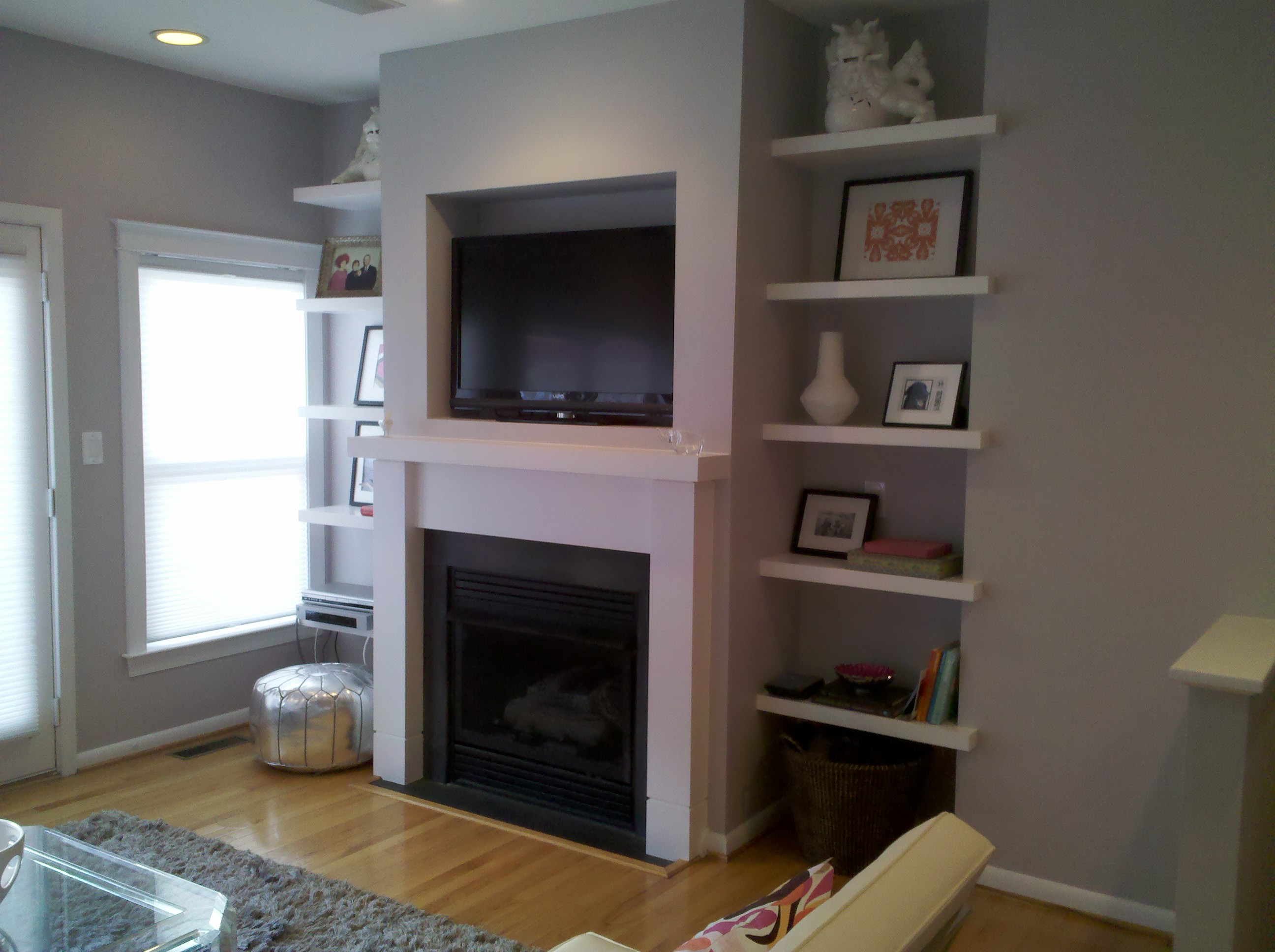 gallery floating natural existing home remodel installed maple wa reinstalledsmaller kirkland spencer repaired custom insulated cut mantel project rough removed mantle and fireplace cavity solutions